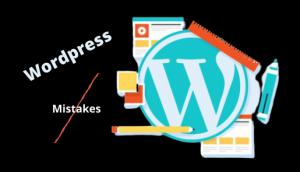 Wordpress mistake