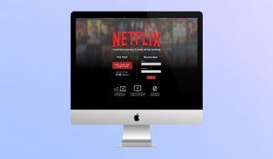 The interface of Netflix's site